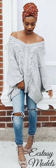 All wrapped up & cozy! // Fashion Look by KeKe Cameron
