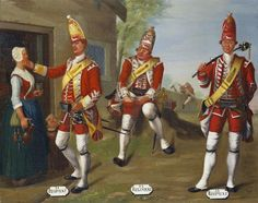 David Morier - Grenadiers, and Regimants of Foot, 1751 British Army Uniform, British Uniforms, British Soldier, Alfred The Great, Royal Collection Trust, Seven Years' War, 18th Century Clothing, Royal Marines, American Revolutionary War