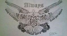 Always/Bon Jovi/Drawing/Pistol/Gun/Rose/Pidgeon