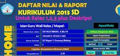 [.xls otomatis] Software Raport Kelas 1 Semester 2 Aplikasi Excel Free Download