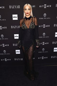 The hottest celebrity red carpet photos from the BAZAAAR Icons Fashion Week Party last night: