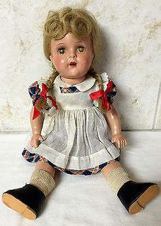 Vtg Madame Alexander Composition McGuffey Ana Doll in Dolls & Bears, Dolls, By Brand, Company, Character Antique Dolls, Vintage Dolls, Madame Alexander Dolls, Bears, Harajuku, Composition, Tools, Best Deals, American