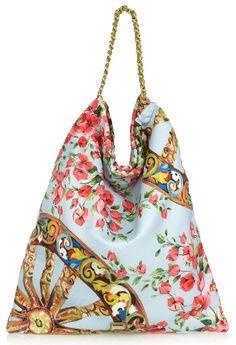 Dolce & Gabbana floral-print silk tote #dolceandgabbana #tote #bag #silk #floralprint #floral