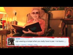 Grandma Reads Snooki's Tweets    Grandma's back in her favorite chair, reading some of the stupidest things ever tweeted by Snooki.
