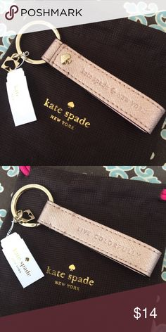 NEW! KATE SPADE rose gold lanyard keychain This is for a new Kate SPADE leather lanyard keychain. Color: rose gold. Will ship immediately! kate spade Other