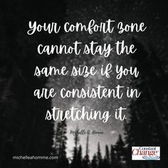 Comfort zones stay exactly the same size when we don't challenge ourselves to leave them. So let's grow! #comfortzone