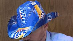 Beer Box Cowboy Hat - saw these at talladega this weekend and we just made one LOL redneck? why yes we are!