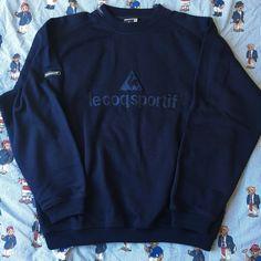 Image of Vintage Navy Le Coq Sportif Sweatshirt 🐓 (L)