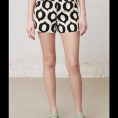 Anthropologie cartonnier ikat shorts black white New without tags Anthropologie Shorts