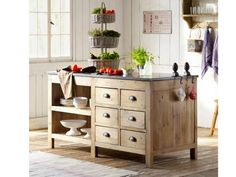 .Beautiful wooden kitchen island