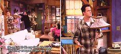-Reasons I love Friends: ROSS HANDS CHANDLER A LAMP.