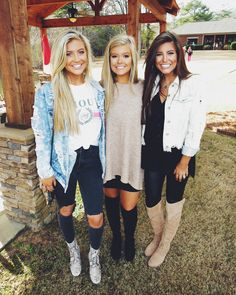 Macie Thomas: Me & my besties ♥ Fall Winter Outfits, Autumn Winter Fashion, Summer Outfits, Cute Outfits, Besties, Bestfriends, Country Concert Outfit, Tailgate Outfit, College Outfits