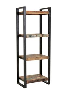 Multicolor Teak Trend Rack Solid Wood Etagere