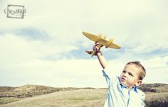 Love this 3 year old boy! Had a blast out there flying his airplane in the clouds