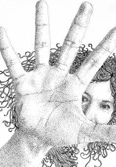 14 Spectacular Pointillism Drawings by Spanish Artist Pablo Jurado Ruiz Scream Art, Stippling Art, Spanish Artists, A Level Art, Black And White Drawing, Doodle Sketch, Ink Pen Drawings, Pen Art, Detailed Image