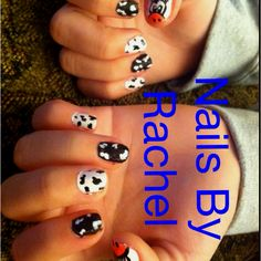 Lexi's cow print nails