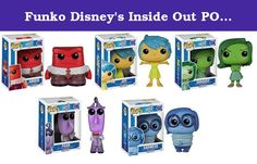 Funko Disney's Inside Out POP Vinyl - Fear, Anger, Joy, Disgust & Sadness Figurines (Set of 5). Disney's INSIDE OUT - POP Vinyl Set of 5 - (FEAR, ANGER, JOY, DISGUST, SADNESS).