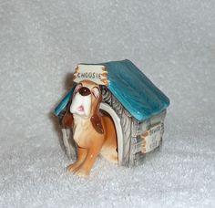 Vintage Hound Dog + House Salt & Pepper Shaker Set 1950s Japan