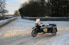 F2 Motorcycles ride to work, winter in the UK. Ural going well.