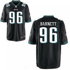 Men's 2017 NFL Draft Philadelphia Eagles #96 Derek Barnett Black Alternate Stitched NFL Nike Elite Jersey