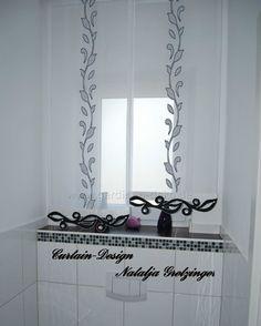 moderne wei graue schiebegardine f rs wohnzimmer mit. Black Bedroom Furniture Sets. Home Design Ideas
