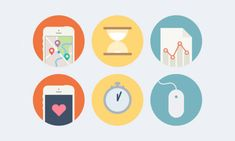 50 Flat Icons Set, Best for Web and App UI Design