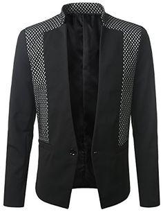 MONDAYSUIT Mens One-Button Casual Black Blazer Jacket Mandarin Collar SMALL MONDAYSUIT http://www.amazon.com/dp/B00QR3JA4G/ref=cm_sw_r_pi_dp_b5K5ub032Y28X