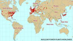Dünya üzerindeki nükleer santral llerin bulunduğu yerler