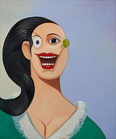 "George Condo's ""Smiling Girl With Black Hair"" Among the Top Lots at Sotheby's Simon Lee Gallery, Sean Scully, George Condo, Girls With Black Hair, European Paintings, Top Artists, Conceptual Art, Art World, American Art"