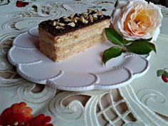 Medové rezy s orechovým krémom (fotorecept)
