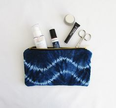 Luxurious velvet pouches for this christmas! Limited edition shibori designs. Great stocking fillers. Pin for later! www.indigowares.com