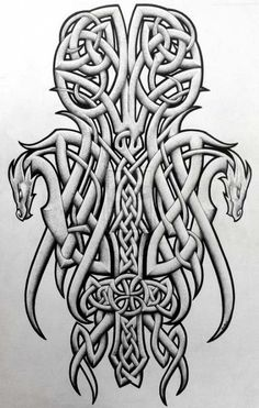 Celtic Dragon Tattoo Designs Collection - Page 4 of 31 - Find Tattoos Online Leg Tattoos, Arm Tattoo, Sleeve Tattoos, Tattoos For Guys, Irish Tattoos, Chest Tattoo, Celtic Symbols, Celtic Art, Celtic Knots