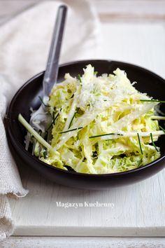 Savoy cabbage and kohlrabi salad Savoy Cabbage, Salad, Entertaining, Dining, Vegetables, Recipes, Food, Recipies, Essen