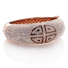 """#ContestInspiration: This AKKAD """"La Cappella"""" Crystal and Enamel Cross Hinged Bangle Bracelet at HSN.com is the perfect bling partner to our sparkly watch- a very necessary piece to our #UltimateFallWardrobe! #HSN #FallFashion"""