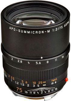 Leica 75mm f/2 APO-Summicron-M ASPH