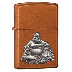 Zippo 21195 Classic Toffee Buddha Emblem Windproof Lighter,