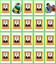 #apples4theteacher - Interactive Father's Day concentration game - Turn over 2 cards at a time to match picture pairs of Dads.