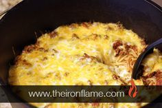 Try this great Dutch Oven Million Dollar Spaghetti recipe. This Dutch Oven recipe is an easy quick and tasty dinner to make camping or at home.
