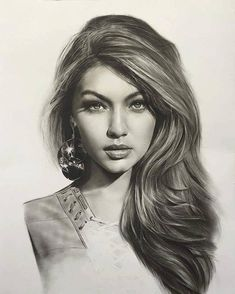 Gigi Hadid drawing