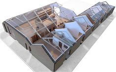 Model.  Carl Turner architects: ochre barn