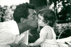 Vintage photo of Actor Dean Martin gives his little daughter Gina a kiss | eBay