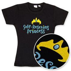 """""""Self-Rescuing Princess.""""  Enough said.  #feminism"""