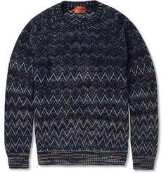 Missoni Patterned-Knit Wool-Blend Sweater   MR PORTER