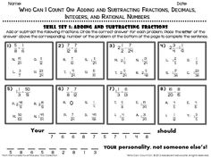 best who can i count on adding and subtracting rational numbers  fun math worksheet one of the four skill sets from adding and subtracting  fractions decimals integers and rational numbers