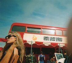 The tea stop — a British double-decker bus turned tea shop
