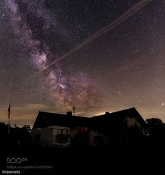 Milkyway over a House This is the Milkyway over a House in Bavaria Germany! Camera: Canon EOS 6D Lens: EF24-70mm f/4L IS USM Focal Length: 24mm Shutter Speed: 30sec Aperture: f/4 ISO/Film: 6400 Image credit: http://ift.tt/2afxMxk Visit http://ift.tt/1qPHad3 and read how to see the #MilkyWay #Galaxy #Stars #Nightscape #Astrophotography