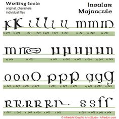 Celtic Manuscripts: The Book of Kells - Initials, Celtic Lettering and TTF Fonts Illuminated Letters, Illuminated Manuscript, Irish Culture, Culture Club, Ttf Fonts, Abc Alphabet, Book Of Kells, Celtic Tattoos, Calligraphy Letters