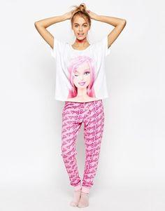 acdd487e3c ASOS Winking Barbie Tee and Long Leg Pyjama Set https://www.fanprint