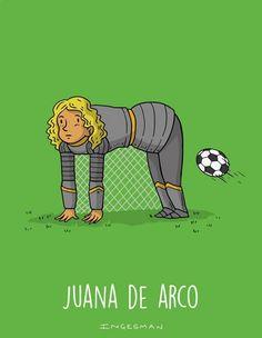 Escogí esta imagen por la irónica que me representa pobrecita Juana de Arco.