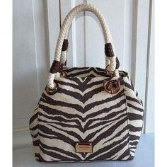 Michael Kors Marina MD Grab Bag Tiger Printed Can ($278)